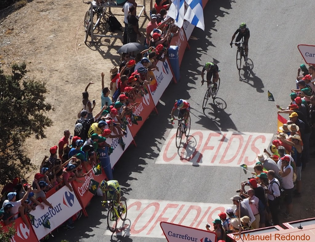 Vuelta de España arriving at Alto de Capileira august 2015, Lindeman wins