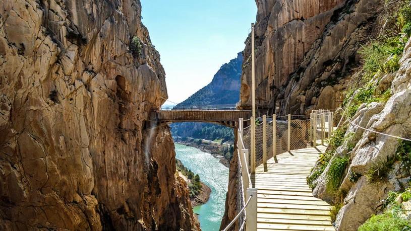 caminito del rey, king's path , el chorro, malaga andalucia spain