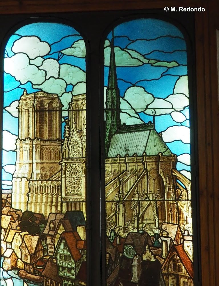 Stained glass notre dame from Paris, glassmuseum Malaga