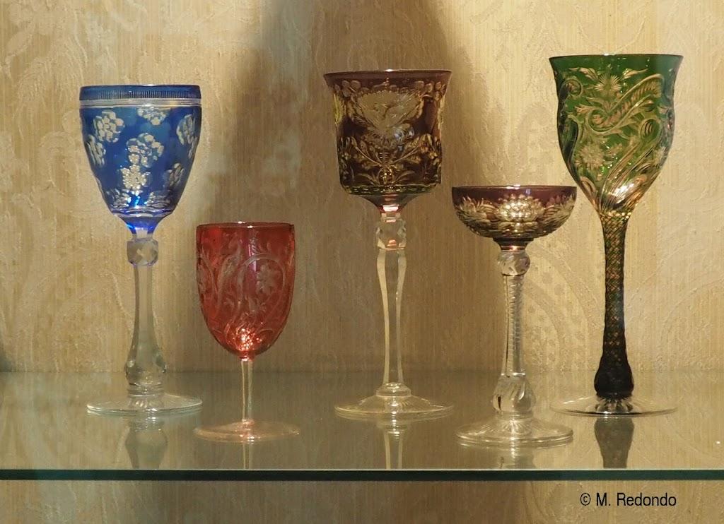Cristal glasses Malaga glass museum Andalucia