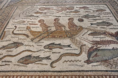 Alcalá de Henares Madrid mosaico romano casa Hipólito