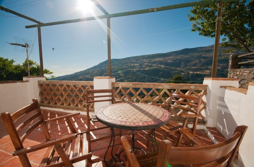 terrace holiday rental bubion