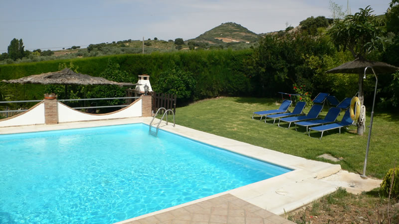 malaga casa de la torre holiday rental house private pool and sunloungers