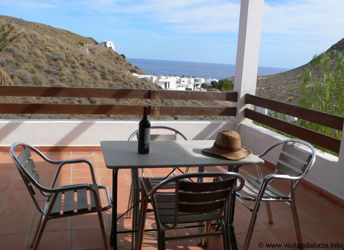almeria las negras holiday rental casa la palmera terrace and views onto the sea
