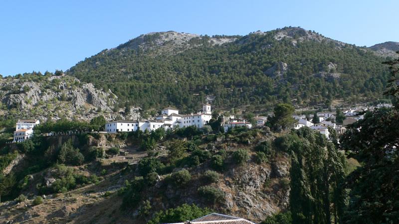 Städchen Grazalema Naturpark los Acornocales Provinz Cadiz Andalusien