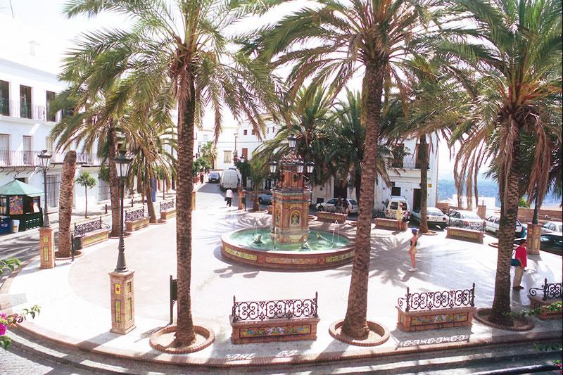 vejer de la frontera stadtplatz andalusien spanien