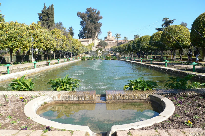 cordoba fountains alcazar gardens andalusia spain