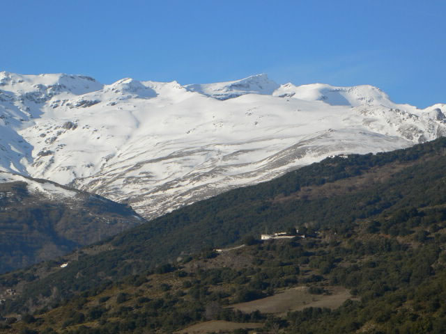 sierra nevada mountains with snow south side alpujarras