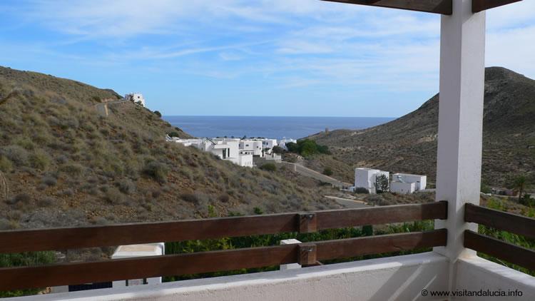 almeria las negras ferienhaus casa la palmera aussicht terrasse