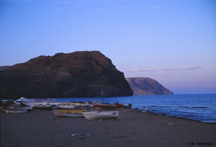 almeria natural parc cabo de gata las negras beach
