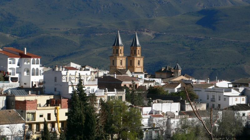 View on town of Orgiva Alpujarras Granada