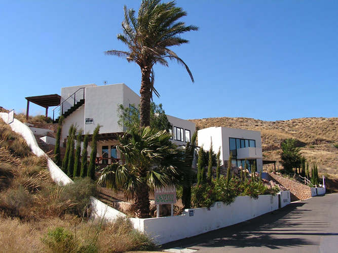 almeria las negras holiday rental villa casa la cascada garden and road