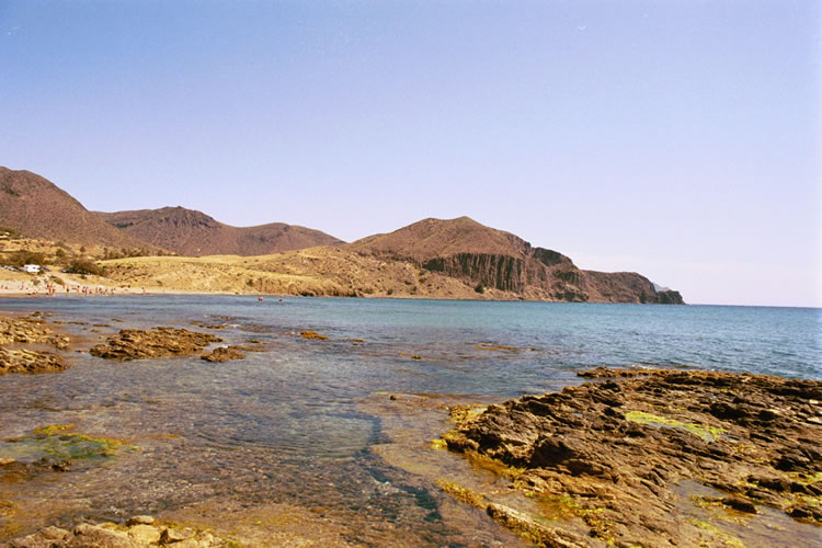 almeria natural parc cabo de gata mountains and sea