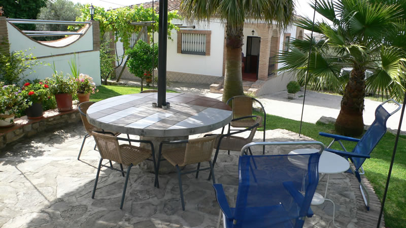 malaga casa de la torre holiday rental house terrace and outside furniture