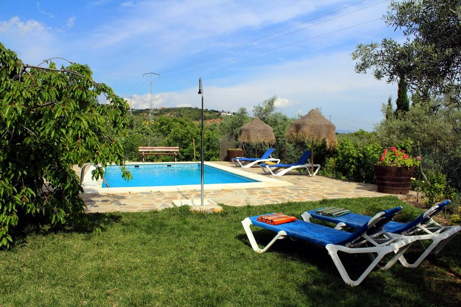 garden and private pool holiday rental casa amarilla el torcal de antequera malaga