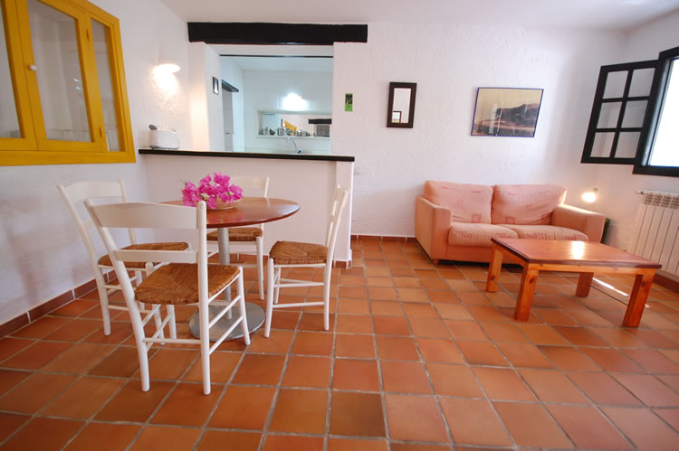 almeria las negras holiday house casa torrecilla livingroom and dining corner
