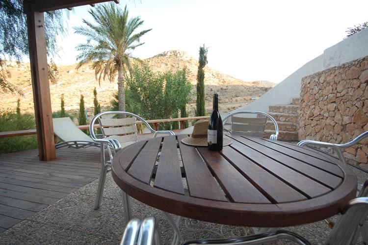Almeria las Negras location de vacances villa casa la cascada terrasse et mobilier de jardin