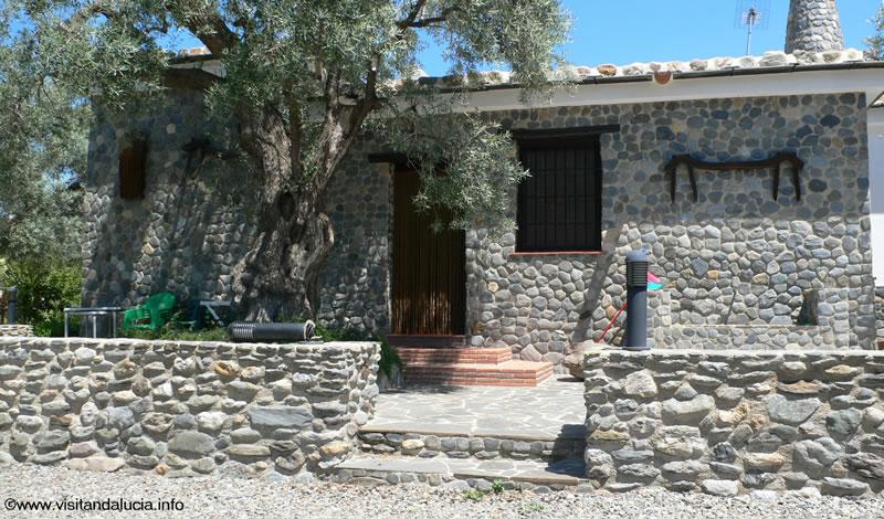 orgiva alpujarras holiday rental villa finca rio seco house facade