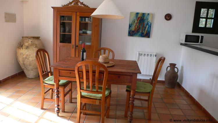 almeria cabo de gata las negras vakantiehuis casa los olivos woonkamer