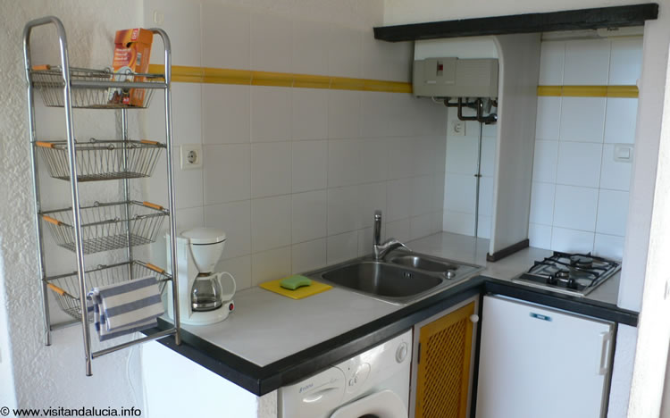 almeria holiday studio apartment las negras kitchen