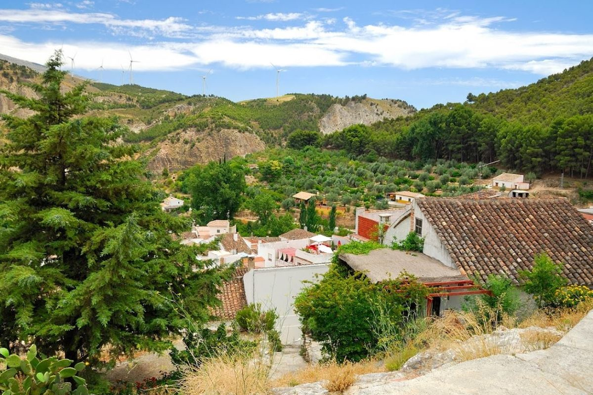Lecrin valley, Conchar, holiday rental Casa el Concejo view from on top of the house