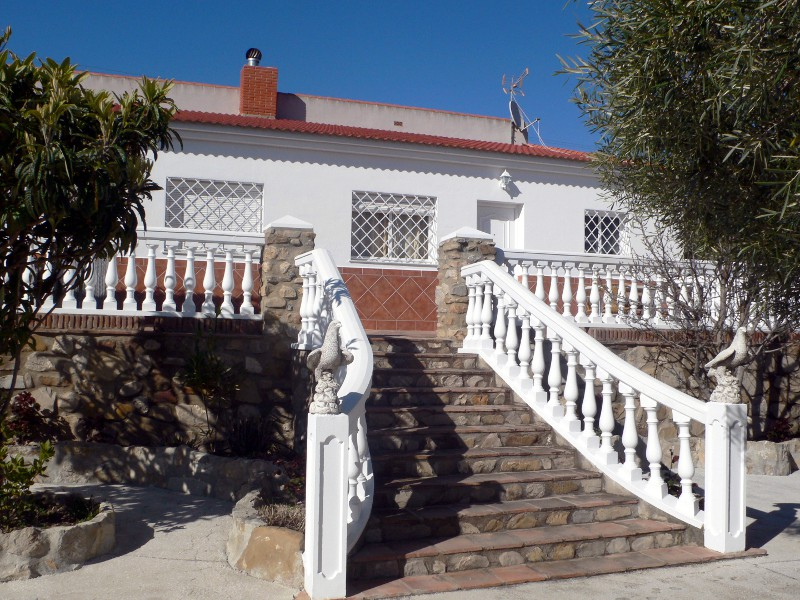 malaga el torcal holiday house casa aguila stairs in front of the house