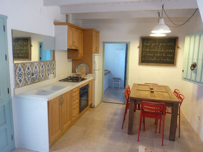 sierra de las nieves holiday rental la cabra verde house kitchen seagreen