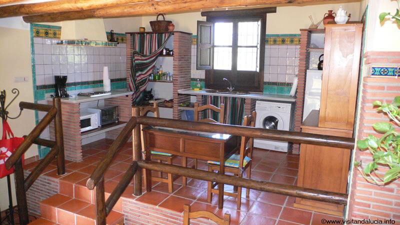 orgiva alpujarras ferien villa finca rio seco küche