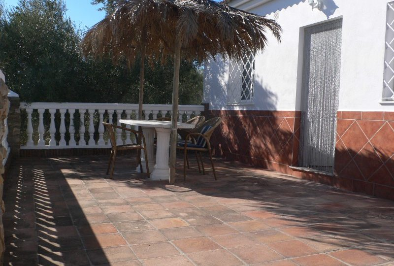 malaga el torcal holiday house casa aguila terrace in front of the house