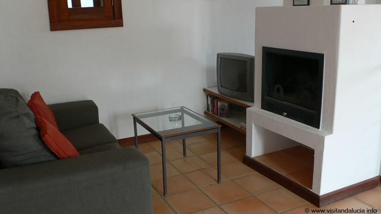almeria las negras ferienhaus casa la palmera wohnzimmer tv bereich