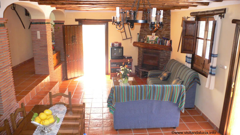 orgiva alpujarras holiday rental villa finca rio seco living room