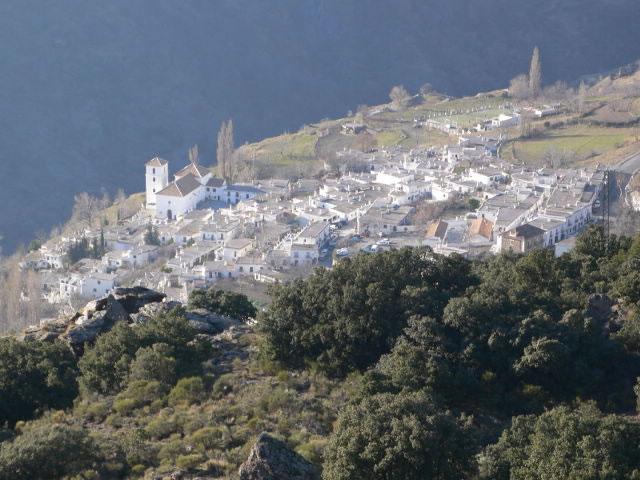 vue sur village de bubion alpujarras grenade parc national sierra nevada