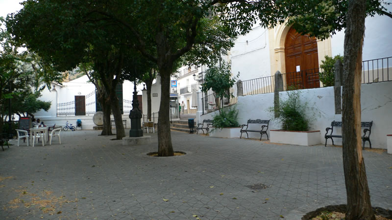 village of villanueva del rosario cadiz andalusia spain main square