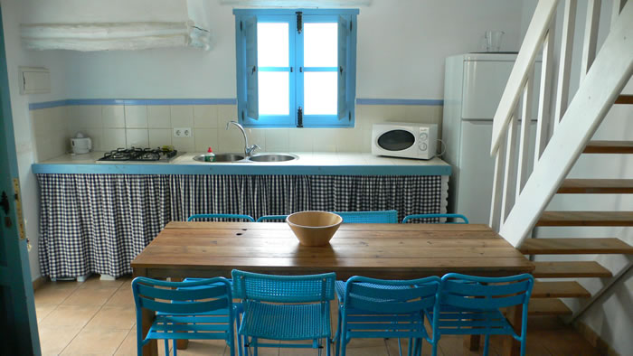 sierra de las nieves holiday rental la cabra verde kitchen the blue house