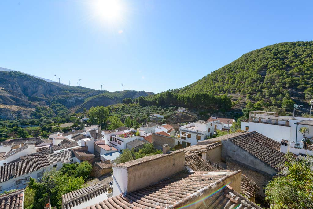 View of Conchar village in the Valley of Joy, Valle de Lécrin, Granada province