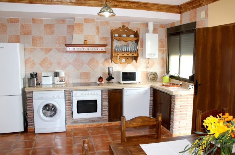 kitchen holiday rental casa amarilla antequera malaga
