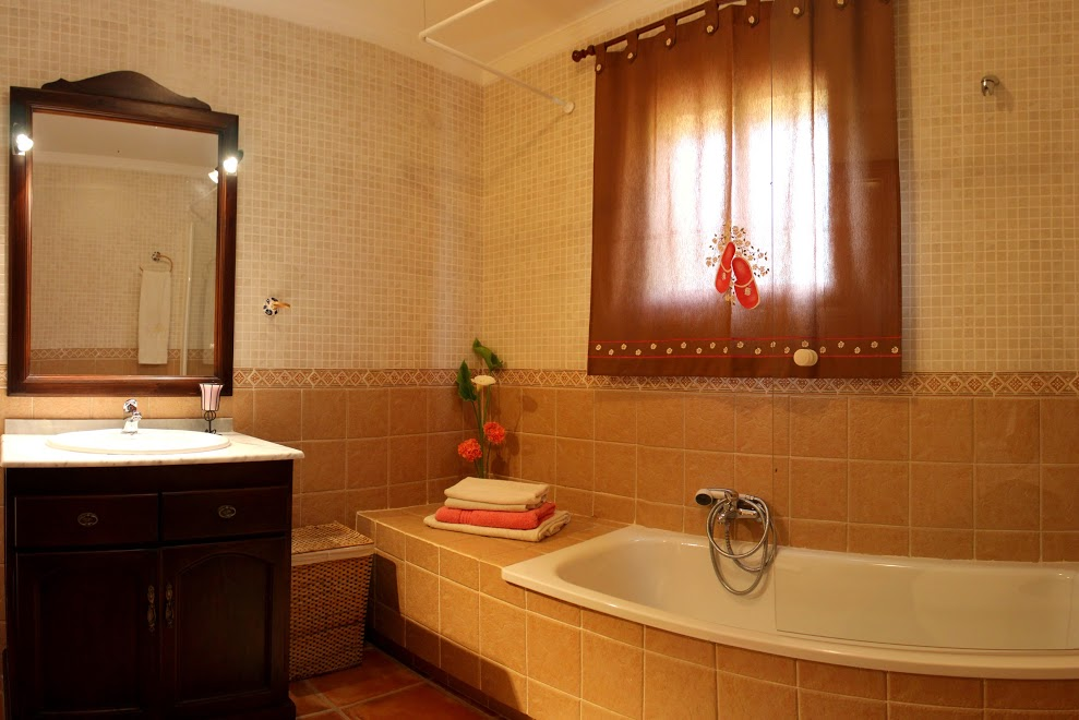 bathroom holiday rental casa amarilla el torcal de antequera malaga 2