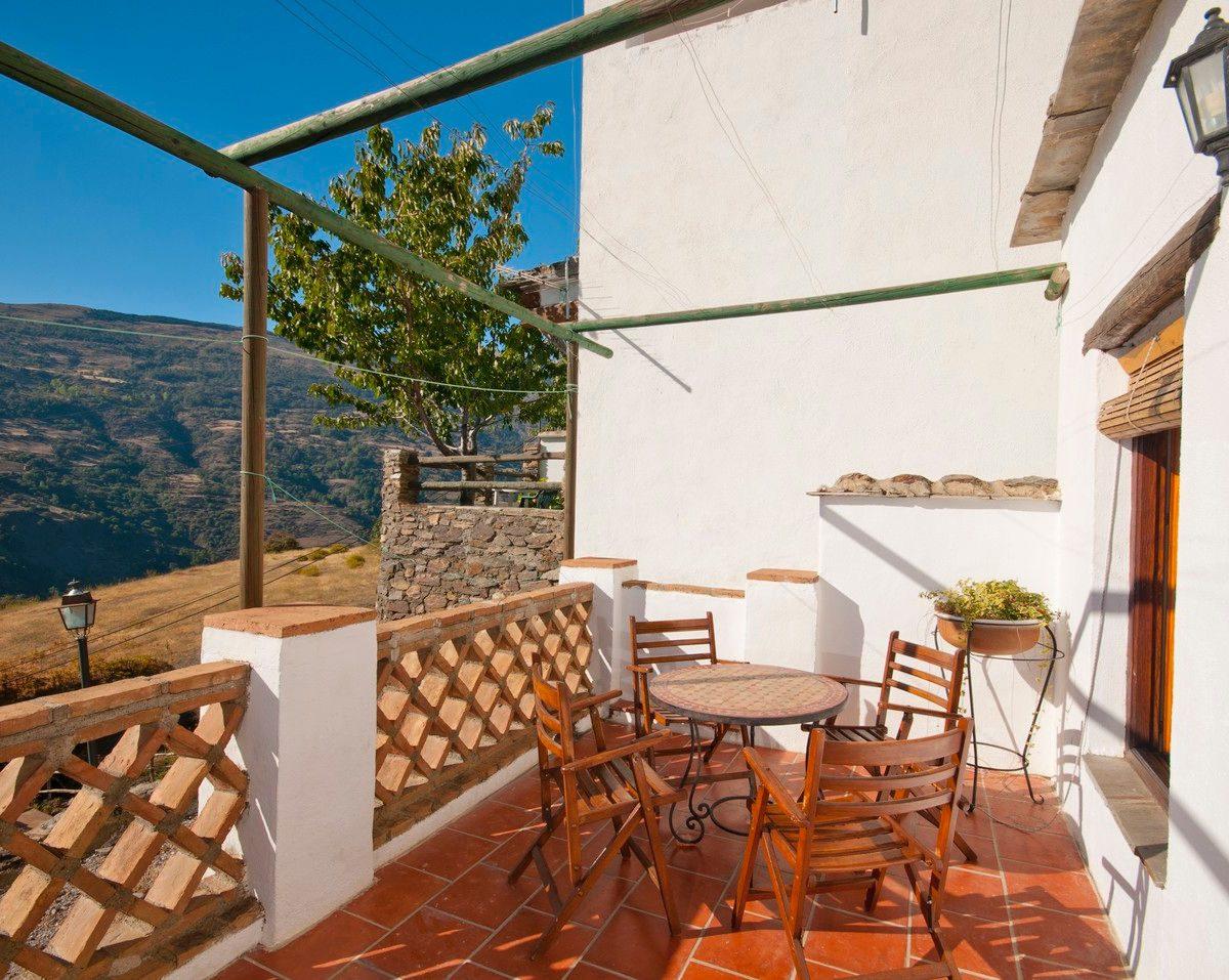 casa de la luz alpujarras terrace holiday rental bubion