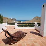 almeria cabo de gata holiday rental las negras casa los olivos terrace with sunlounger