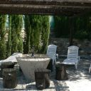 orgiva alpujarras holiday rental villa finca rio seco sunloungers and terrace
