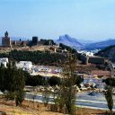 view antequera city andalusia spain