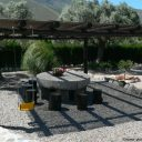 orgiva alpujarras holiday rental villa finca rio seco terrace and dining corner