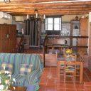 orgiva alpujarras villa de vacances finca rio seco salon, coin repas et cuisine