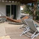 almeria las negras holiday rental villa casa la cascada terrace and sunloungers