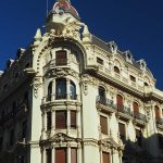 19th century building Granada, Andalusia Spain