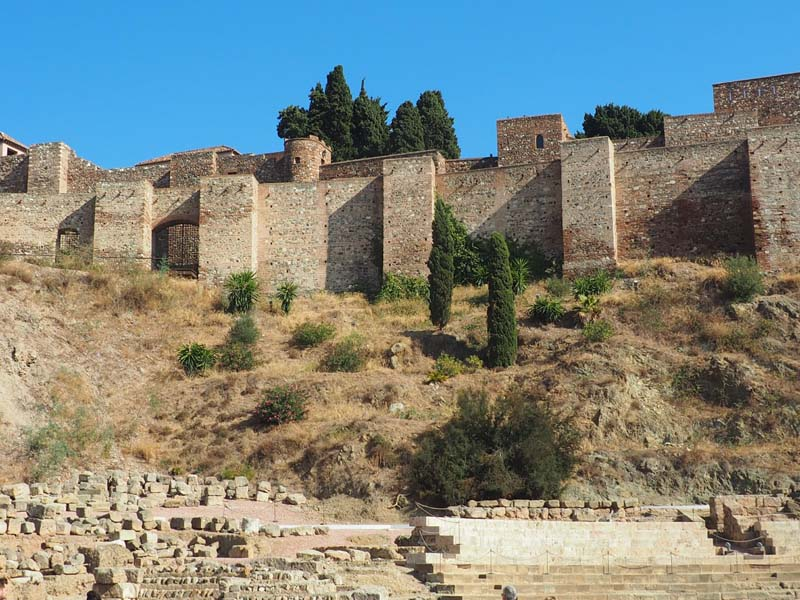 malaga alcazaba fort andalusie spanje