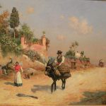 painting museum carmen thyssen selling tipical andalusian scene